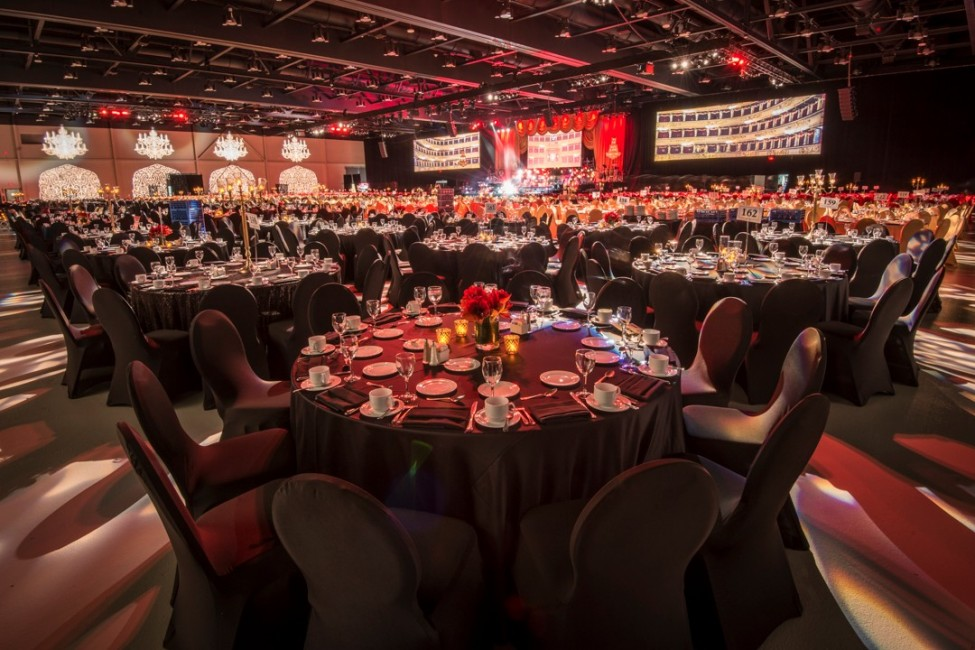 Event decor at corporate employee gala in Calgary photography by Leblond Studio