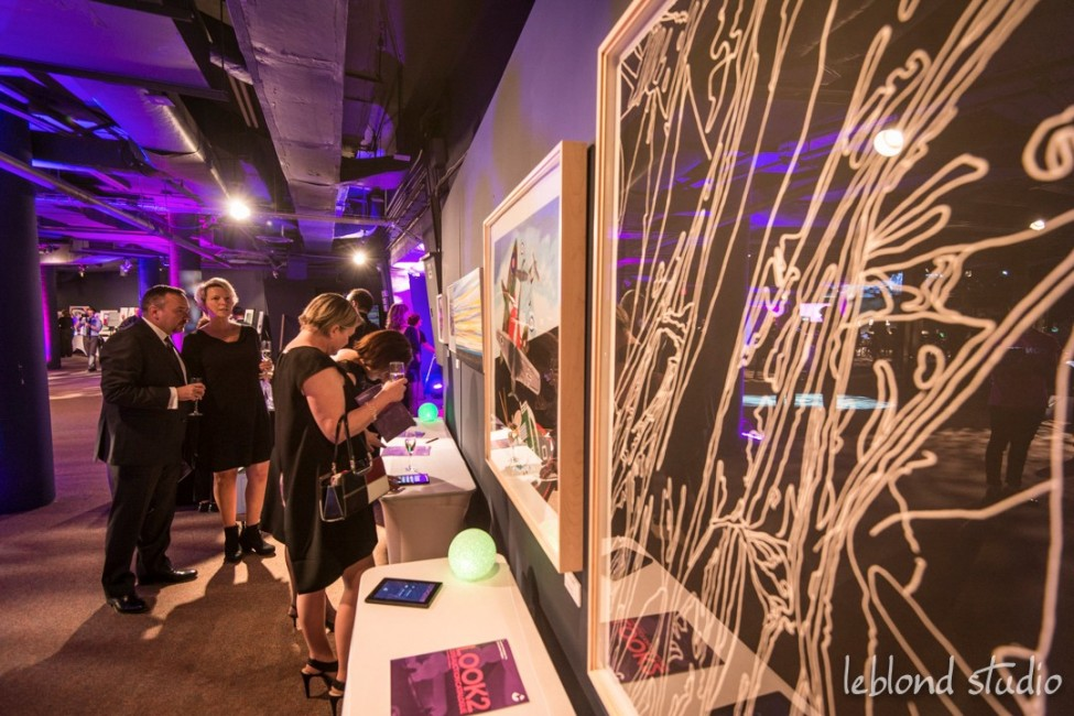 Event guests and silent auctio items, photography by Leblond Studio at the LOOK2015 event in Calgary