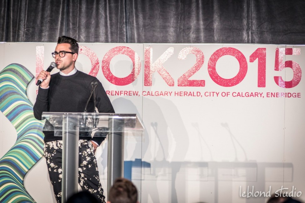 Speaker at podium, photography by Leblond Studio at the LOOK2015 event in Calgary