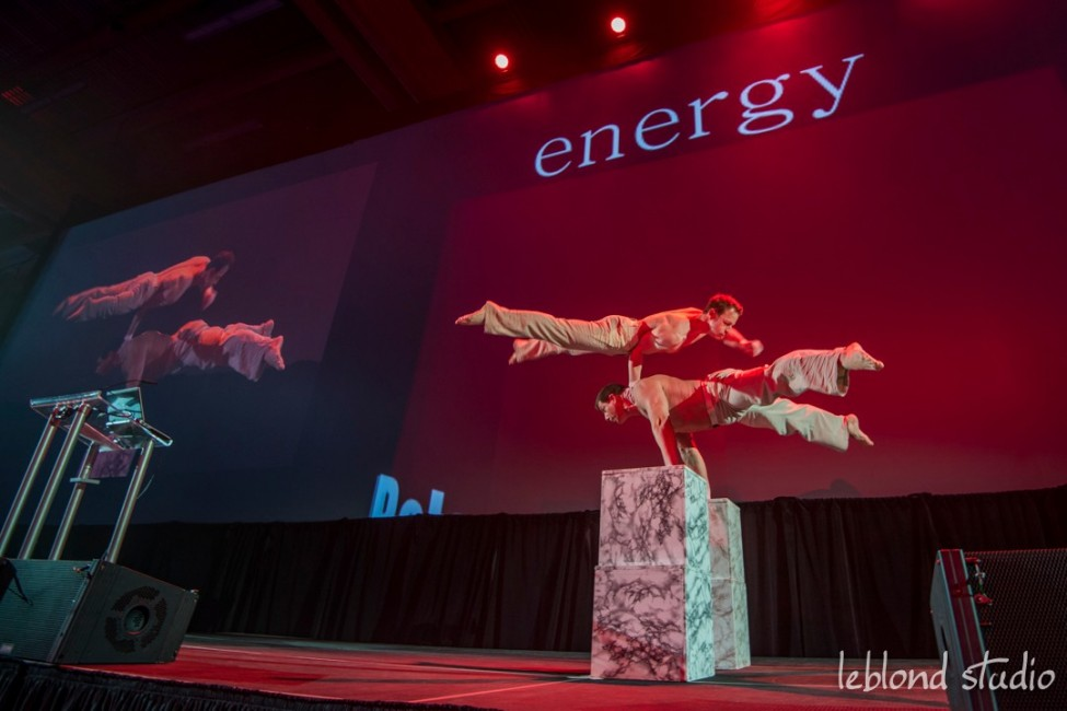 Event photo of stage entertainment from Catalyst Leadership Conference in Calgary