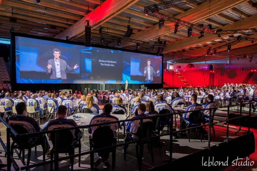 Event photo of guests listening to keynote speaker from Catalyst Leadership Conference in Calgary
