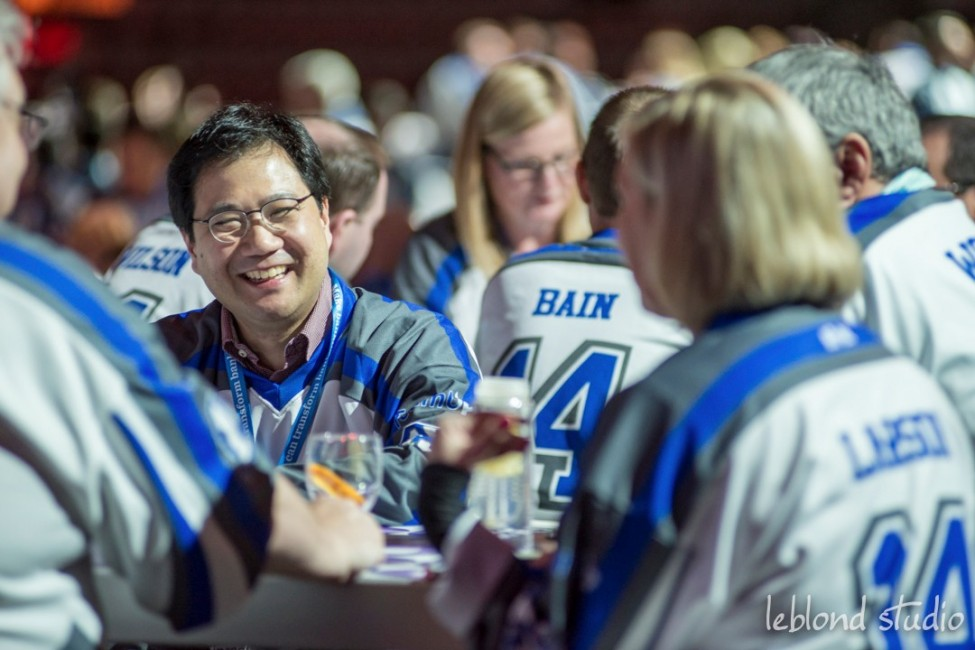 Event photo of guests enjoying the Catalyst Leadership Conference in Calgary
