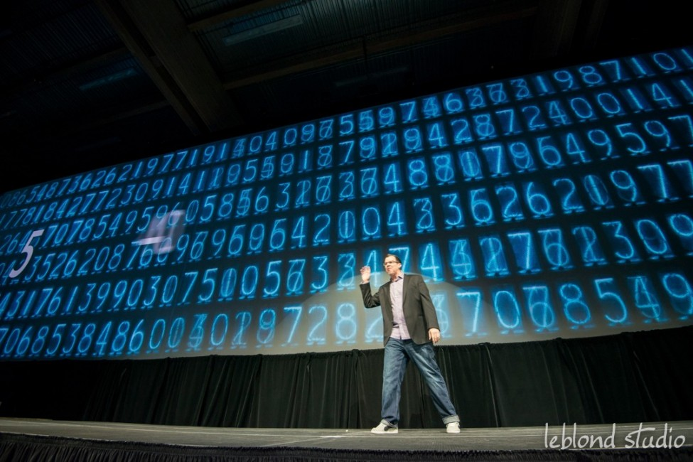 Event photo of keynote speaker from Catalyst Leadership Conference in Calgary